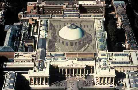 Vista aérea do British Museum, Londres