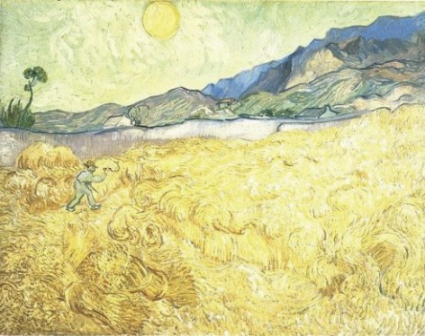 """Van Gogh """"Wheat Fields with Reaper at Sunrise"""""""