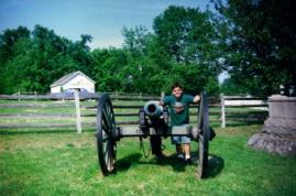 Canhão no campo de batalha