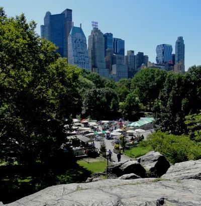 Vista do parque de diversões Victorian Gardens