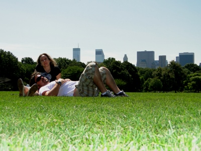 Relaxando no Great Lawn