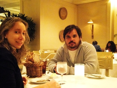Jantando no Hilton