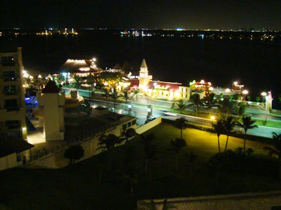 Cancun by night